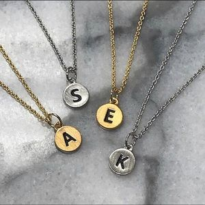 Petite & Dainty Etched Initial Necklaces, NWT